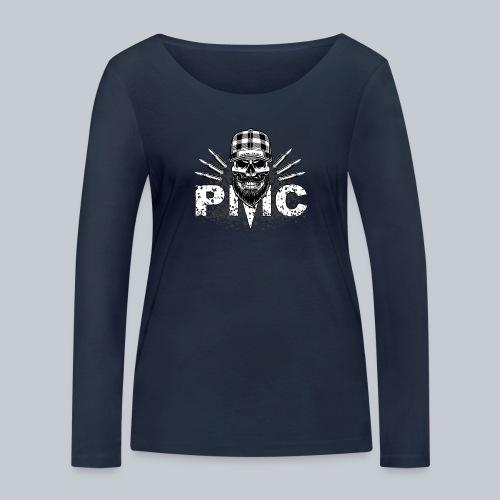 PMC Skull white - Frauen Bio-Langarmshirt von Stanley & Stella