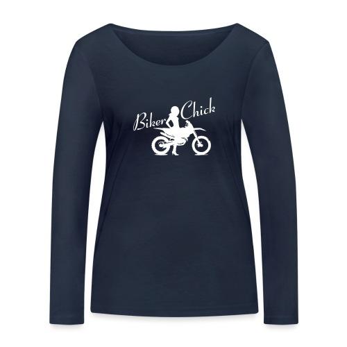 Biker Chick - Dirt bike - Stanley & Stellan naisten pitkähihainen luomupaita