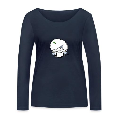 Juletre Sau - Økologisk langermet T-skjorte for kvinner fra Stanley & Stella