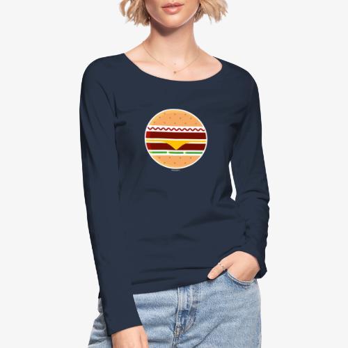 Circle Burger - Maglietta a manica lunga ecologica da donna di Stanley & Stella
