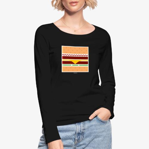 Square Burger - Maglietta a manica lunga ecologica da donna di Stanley & Stella