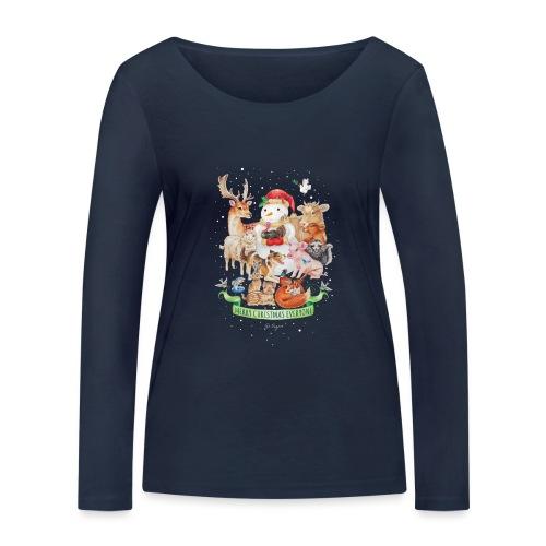 Vegan Christmas - Vrouwen bio shirt met lange mouwen van Stanley & Stella