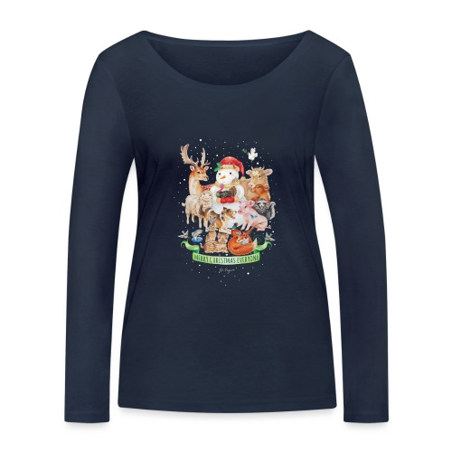 Vegan Christmas - Women's Organic Longsleeve Shirt by Stanley & Stella