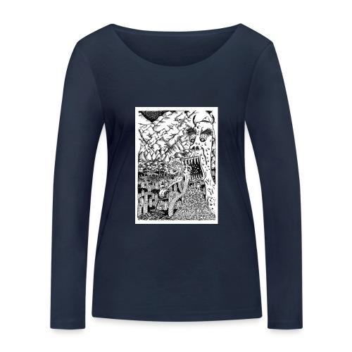 Sea Monsters T-Shirt by Backhouse - Women's Organic Longsleeve Shirt by Stanley & Stella