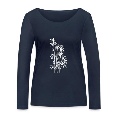 Bianco Dafne 01 - Maglietta a manica lunga ecologica da donna di Stanley & Stella