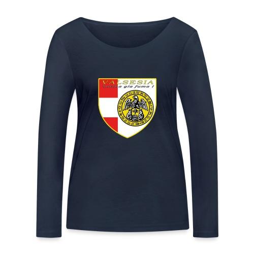 scudo simbolo comunità Valsesiana - Maglietta a manica lunga ecologica da donna di Stanley & Stella