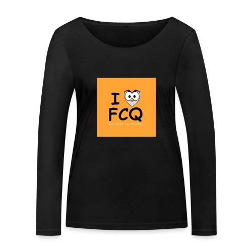 I Love FCQ button orange - Frauen Bio-Langarmshirt von Stanley & Stella