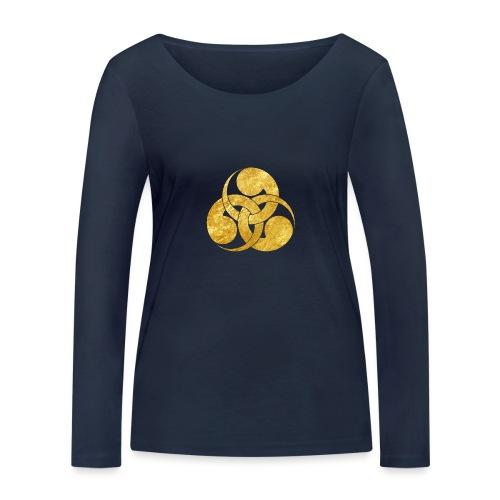 Tadpole Mon Japanese samurai clan - Women's Organic Longsleeve Shirt by Stanley & Stella