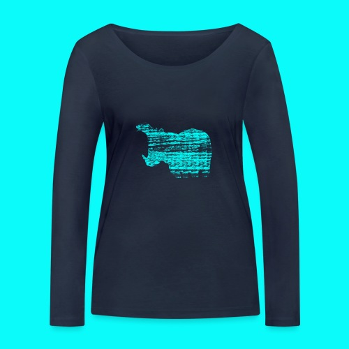 STAFF PICKS - HIPPOPOTAMUS - Ekologisk långärmad T-shirt dam från Stanley & Stella