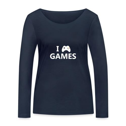 I Love Games 2 - Camiseta de manga larga ecológica mujer de Stanley & Stella