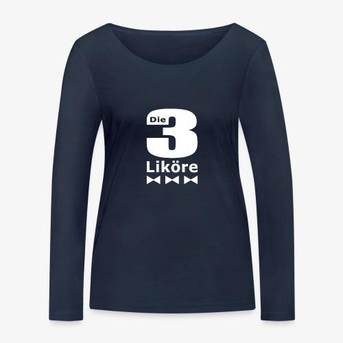 Die 3 Liköre - logo weiss - Frauen Bio-Langarmshirt von Stanley & Stella