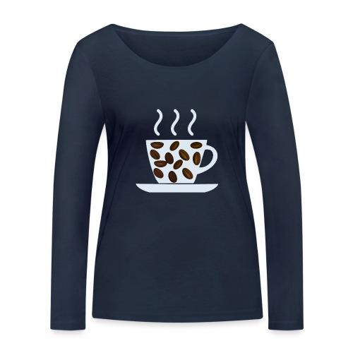 grey cup cofee with beans - Maglietta a manica lunga ecologica da donna di Stanley & Stella