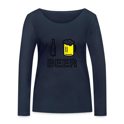 I Love Beer (2-farbig) - Frauen Bio-Langarmshirt von Stanley & Stella