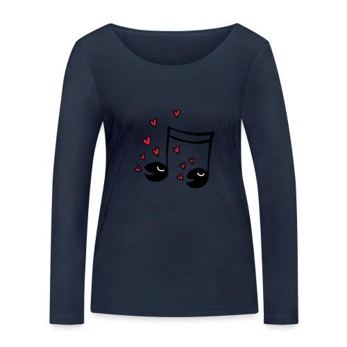 Love tunes - Frauen Bio-Langarmshirt von Stanley & Stella