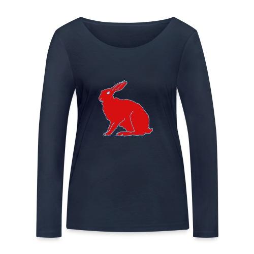 Roter Hase - Frauen Bio-Langarmshirt von Stanley & Stella