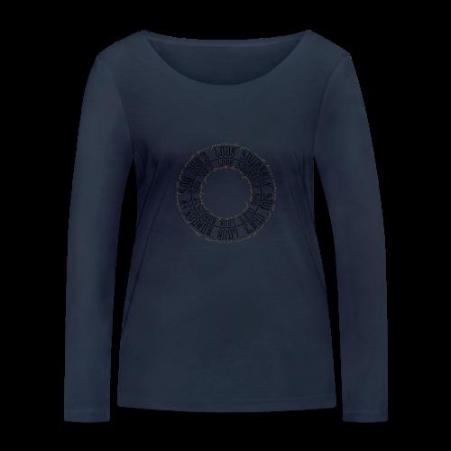 CALLIGRAPHY-CIRCLE - Maglietta a manica lunga ecologica da donna di Stanley & Stella