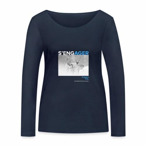 1 Achat = 1 Don au Centre de soin LPO Aquitaine - T-shirt manches longues bio Stanley & Stella Femme