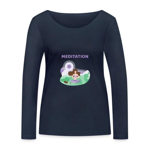 Yoga Meditation - Maglietta a manica lunga ecologica da donna di Stanley & Stella