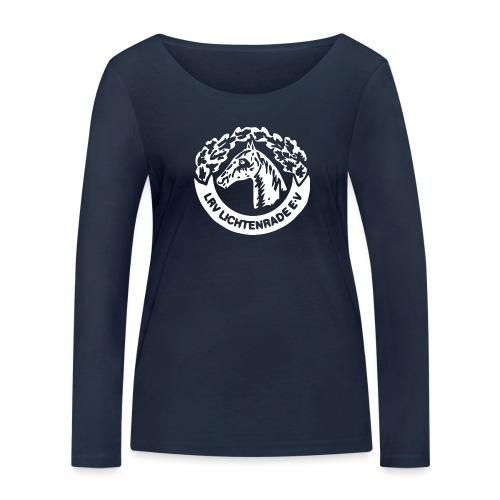 horse_logo_white_big - Frauen Bio-Langarmshirt von Stanley & Stella