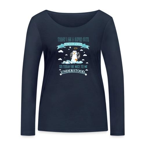Pinguin Engel Weihnachten Antarktis Shirt Geschenk - Frauen Bio-Langarmshirt von Stanley & Stella