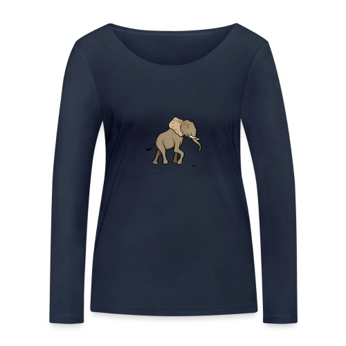 African Elephant - Women's Organic Longsleeve Shirt by Stanley & Stella