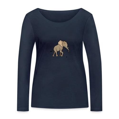 Afrikansk elefant - Økologisk langermet T-skjorte for kvinner fra Stanley & Stella