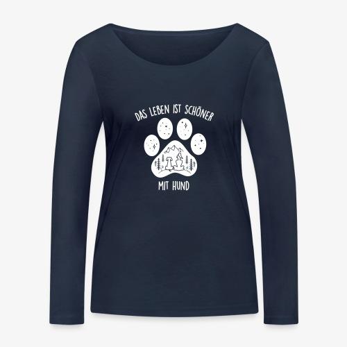 Leben mit Hund - Frauen Bio-Langarmshirt von Stanley & Stella