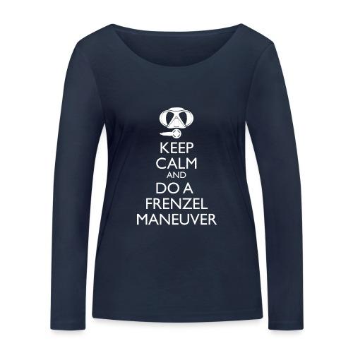 Keep calm and Frenzel - Frauen Bio-Langarmshirt von Stanley & Stella
