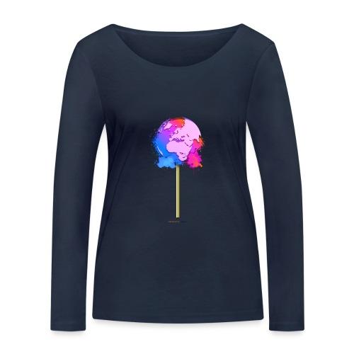 TShirt lollipop world - T-shirt manches longues bio Stanley & Stella Femme
