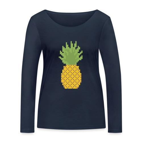 Pineapple Pixel Art - Women's Organic Longsleeve Shirt by Stanley & Stella