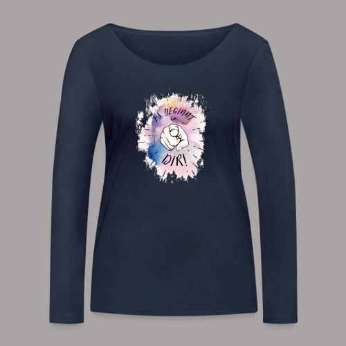 shirt bunt tshirt druck - Frauen Bio-Langarmshirt von Stanley & Stella