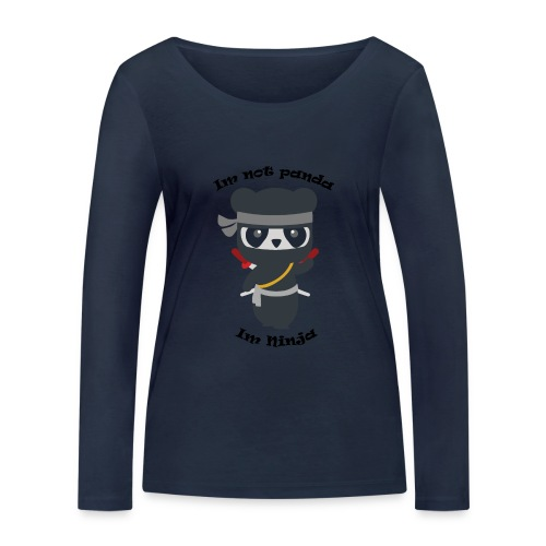 Non sono un Panda - Maglietta a manica lunga ecologica da donna di Stanley & Stella