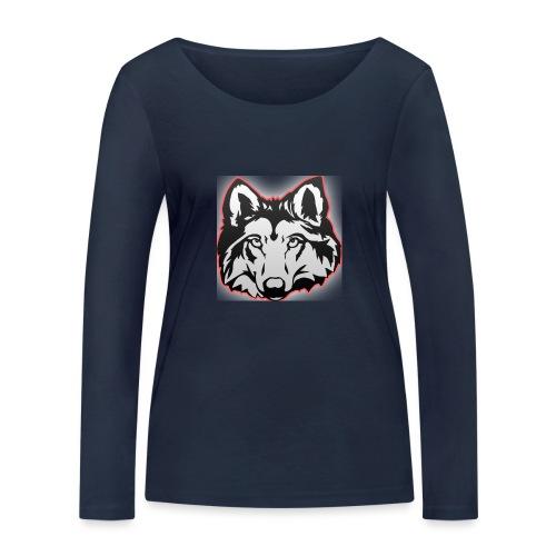Wolfie (Red) - Women's Organic Longsleeve Shirt by Stanley & Stella