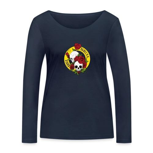 SKULL'S N ROSES - Camiseta de manga larga ecológica mujer de Stanley & Stella