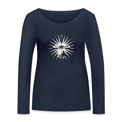 Blues Is The Truth - white star - Women's Organic Longsleeve Shirt by Stanley & Stella