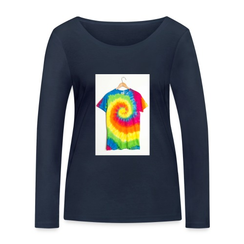 tie die small merch - Women's Organic Longsleeve Shirt by Stanley & Stella