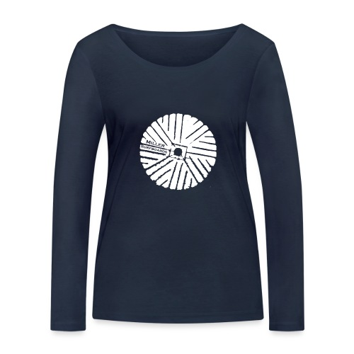 White chest logo sweat - Women's Organic Longsleeve Shirt by Stanley & Stella