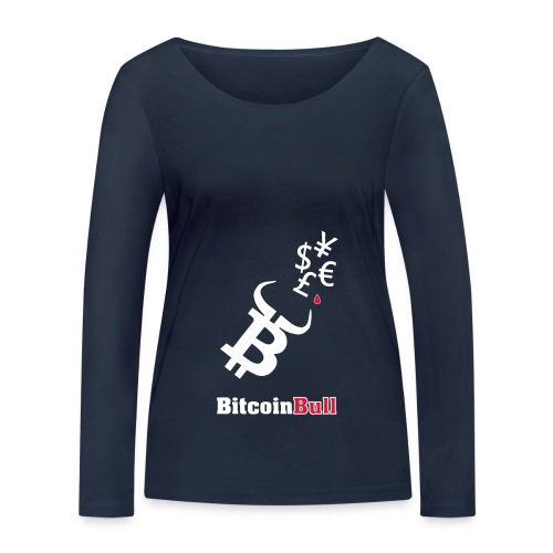 BitcoinBull - Camiseta de manga larga ecológica mujer de Stanley & Stella