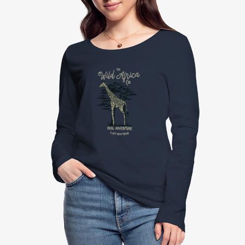 Girafe - T-shirt manches longues bio Stanley & Stella Femme