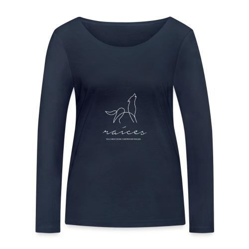 educando desde nuestra naturaleza blanco - Camiseta de manga larga ecológica mujer de Stanley & Stella