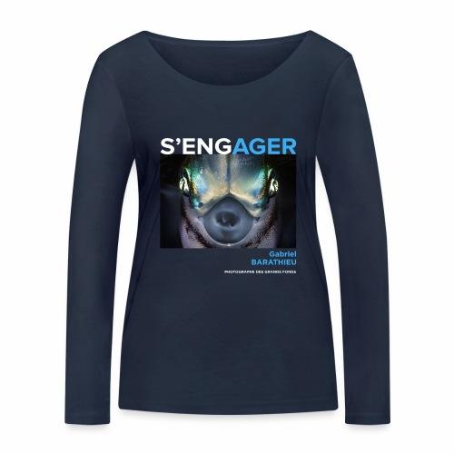 1 Achat = 1 Don à l'association Deep blue explore - T-shirt manches longues bio Stanley & Stella Femme
