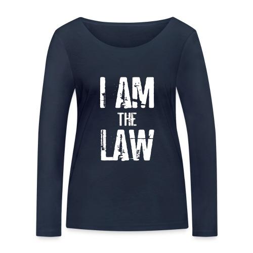 Tank top girl woman I AM THE LAW per avvocatessa - Women's Organic Longsleeve Shirt by Stanley & Stella
