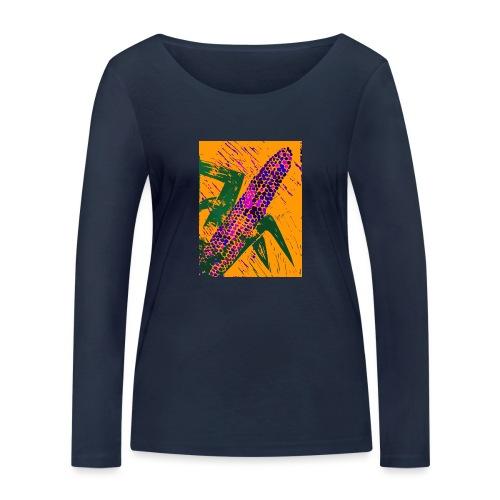 Mais violett - Frauen Bio-Langarmshirt von Stanley & Stella
