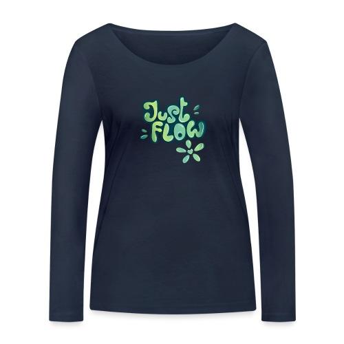 Just flow Liquid Lettering - Frauen Bio-Langarmshirt von Stanley & Stella