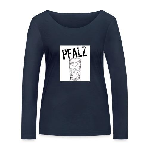 Pfalzshirt mit Dubbeglas, weiß - Frauen Bio-Langarmshirt von Stanley & Stella