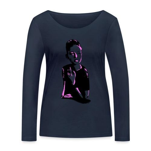 WOKE (pink) - Økologisk Stanley & Stella langærmet T-shirt til damer