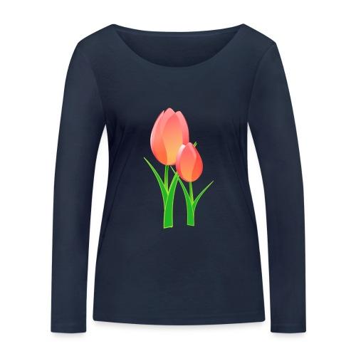 Belle fleur - T-shirt manches longues bio Stanley & Stella Femme