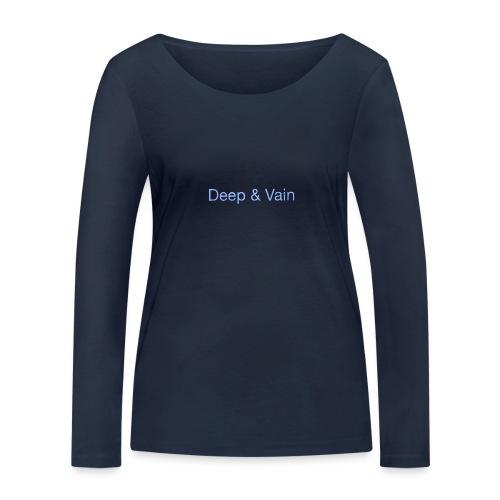 Deep&Vain Text Logo - Vrouwen bio shirt met lange mouwen van Stanley & Stella