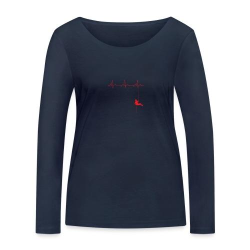 Love Rappelling ECG - Women's Organic Longsleeve Shirt by Stanley & Stella