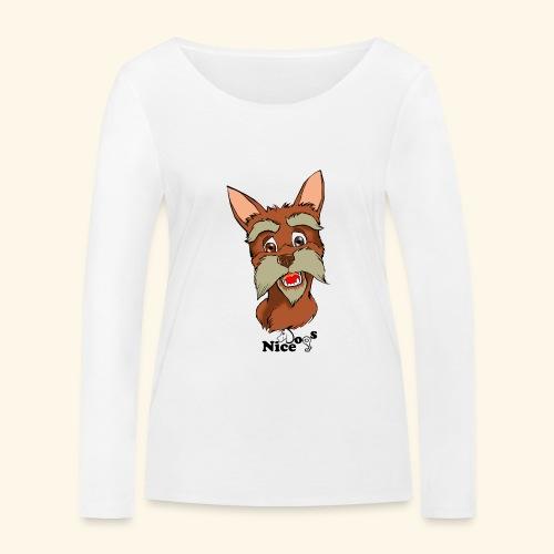 Nice Dogs schnauzer - Maglietta a manica lunga ecologica da donna di Stanley & Stella